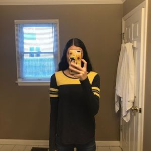 Aeropostal Grey&Yellow long sleeve shirt